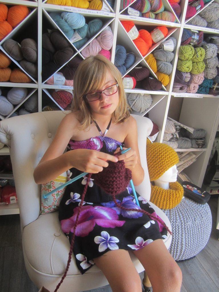 Cours et leçons de tricot avec des enfants 14h 30