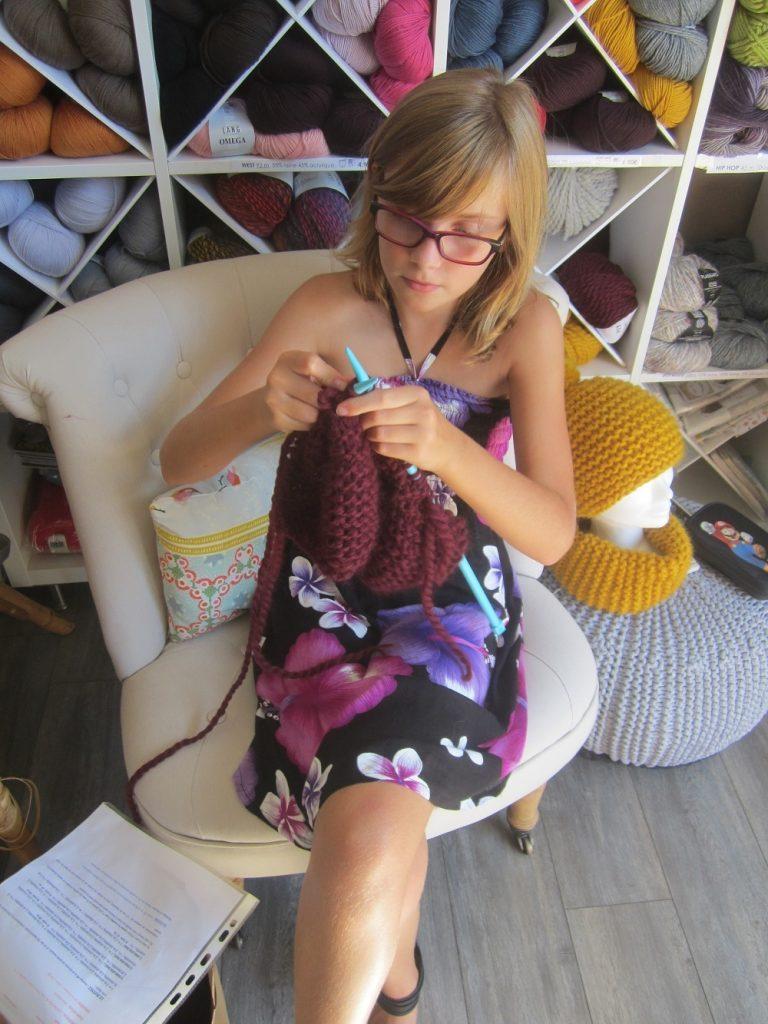 H-le tricot et les enfants chez Wool kit Factory 16h30