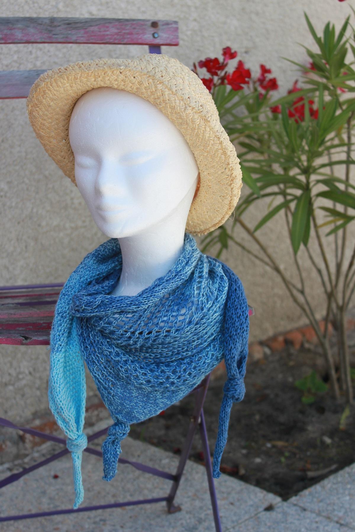 Bora-Bora le cheche tricoté main en Ravinala_2