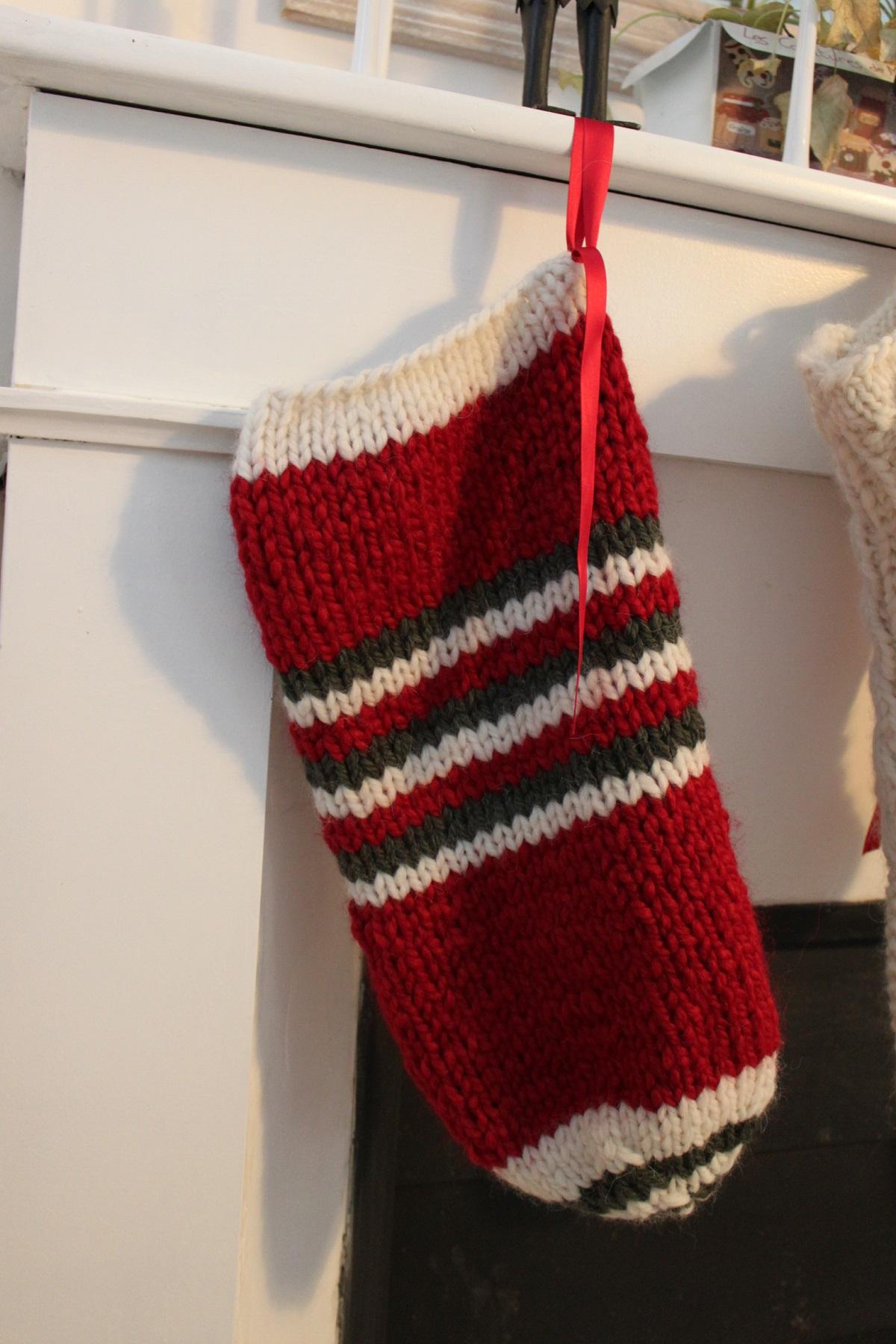 tutoriel tricot gratuit chaussettes de noel à tricoter pour débutante
